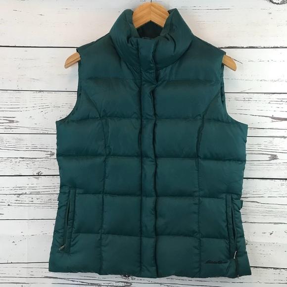 Eddie Bauer Jackets & Blazers - Eddie Bauer Premium Goose Down Puffer Vest Green